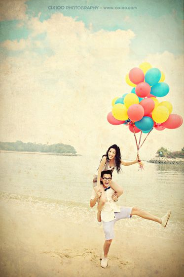 This would make for a cute engagement photo! :) it looks like 'up' !!
