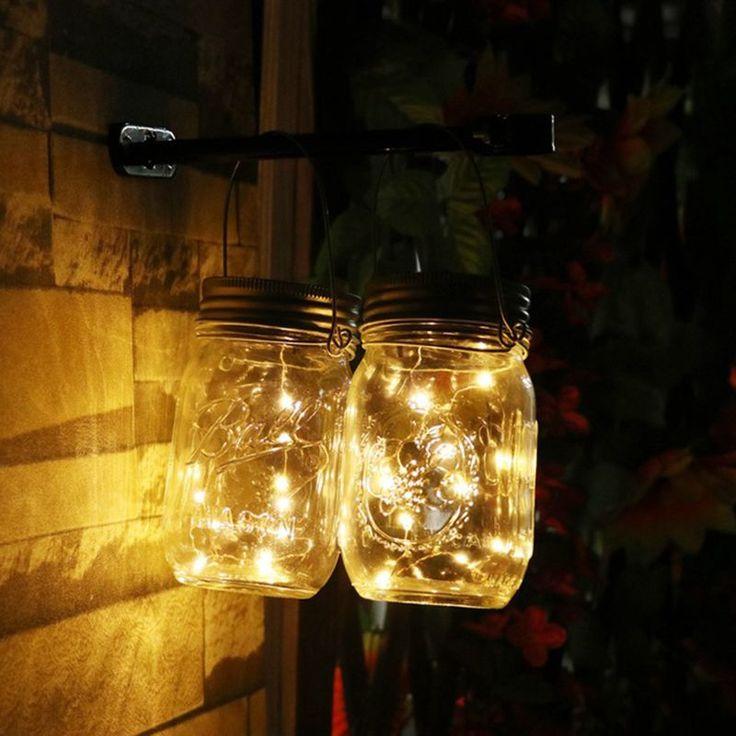 Pas cher Chaude 1 Pcs Fête De Noël Décor Mason Jar Couvercle Insert Avec Jaune et Pourpre LED Lumière Panneau Solaire pour le Verre pots De Noël Lumières, Acheter    de qualité directement des fournisseurs de Chine:Outdoor Camping Lamp Tent Light Torch Flashlight Hanging Flat LED Light 3 Mode Adjustable Lantern AAA Battery ABS Plasti