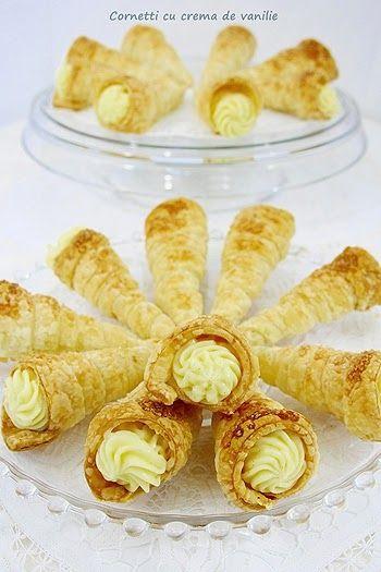 Bucatar maniac si prietenii: Cornetti cu crema de vanilie