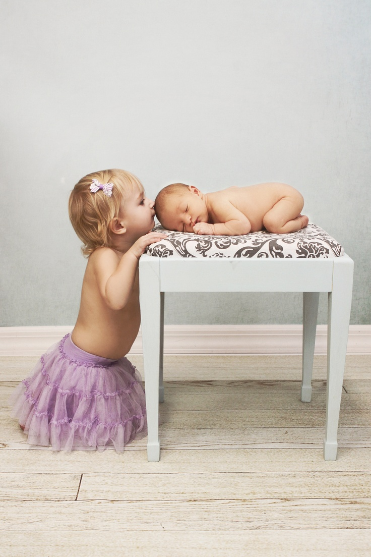 Newborn Sibling Picture, Photography by Megan...