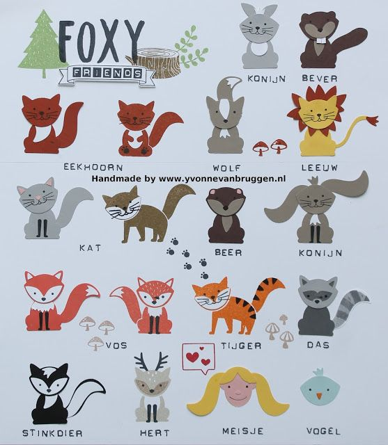 Yvonne is Stampin' & Scrapping: Stampin' Up! A lot of Foxy Friends #stampinup