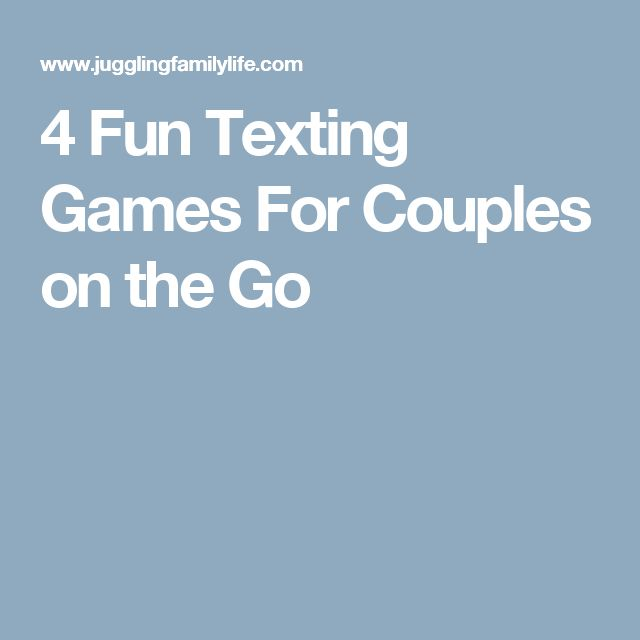 fun dating texting games