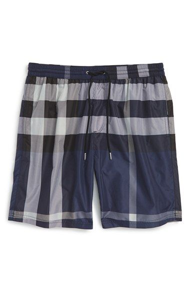 Burberry Brit 'Gowers' Check Swim Trunks (Men)