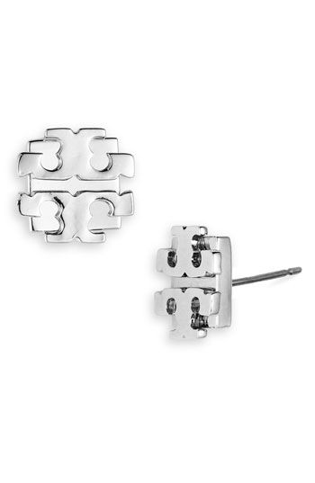 Gift to myself from Mark that I orderred. :) Tory Burch Large Logo Stud Earrings | Nordstrom