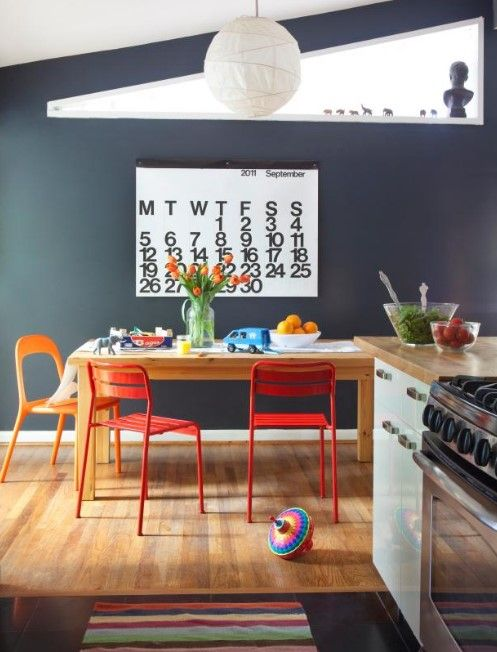 20+ Best Pictures Dining Room Wall Decor Ideas & Designs - Dining Room Wallpaper Ideas With Calender Decoration