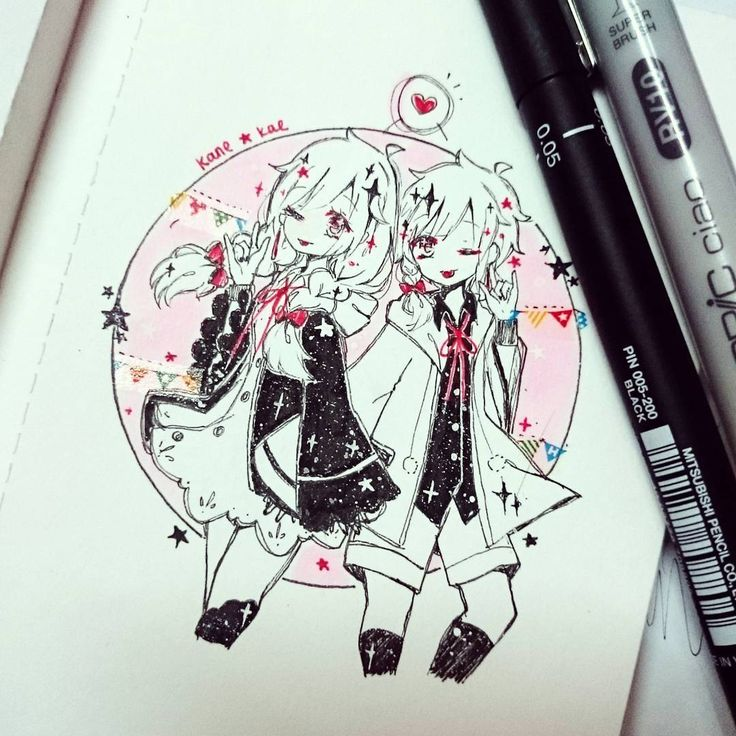 Drawing my persona (kane) and her genderbend (kae) ❤❤❤✨✨✨