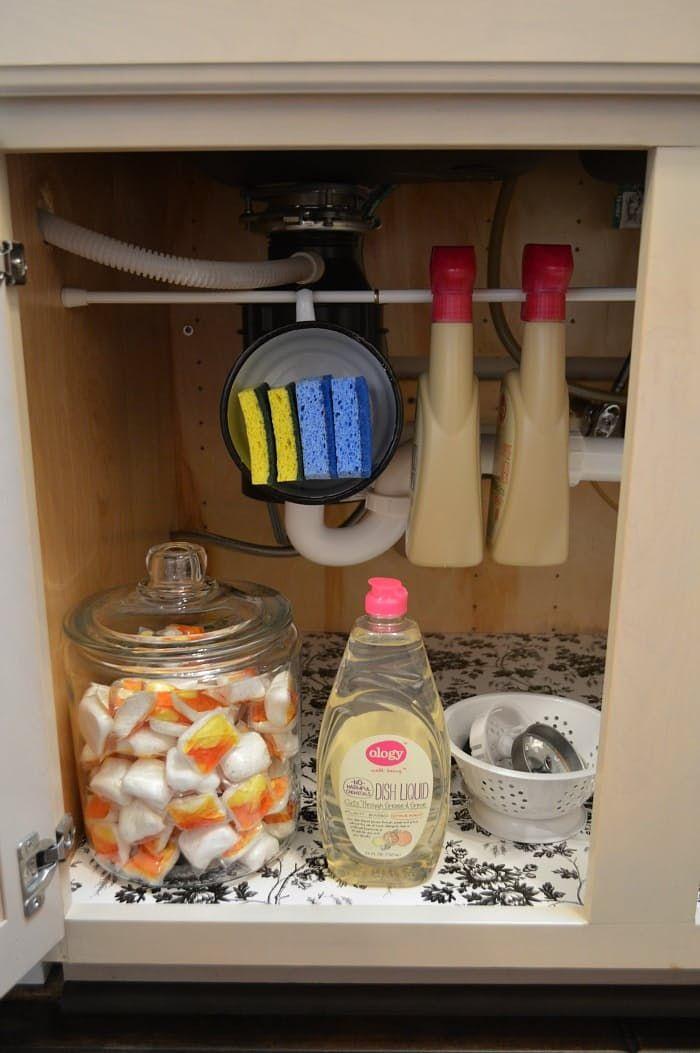 1211 best home organizing images on pinterest bricolage storage a dozen genius ways to organize under the sink under sink organization kitchenorganize under sinkcheap workwithnaturefo