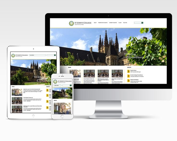 St John's College (University of Sydney) –Website Design + Build