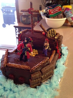 The Traveling Cowgirl: Pirate Birthday Cake DIY