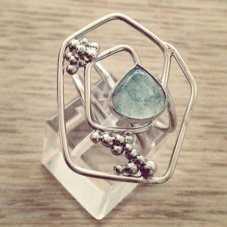 A personal favorite from my Etsy shop https://www.etsy.com/listing/216456793/silver-ring-with-aqua-stone