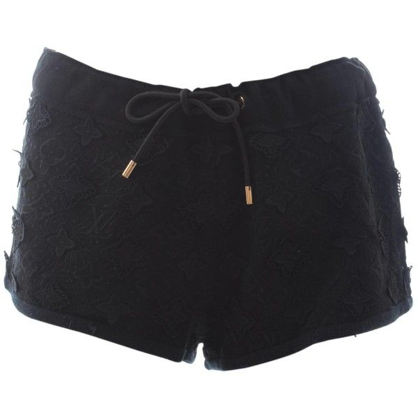 Pre-owned Louis Vuitton Black Cotton Shorts ($221) ❤ liked on Polyvore featuring shorts, black, women clothing shorts, louis vuitton shorts, cotton shorts, mini shorts, monogrammed shorts and louis vuitton