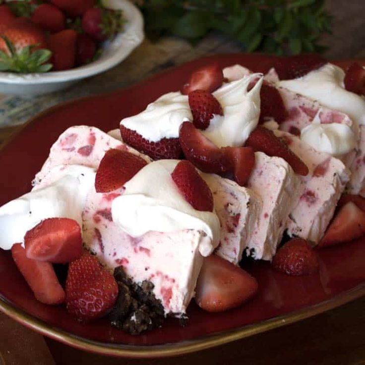 strawberry-whipped-dessert-perfection. Strawberry Whipped Dessert is a frozen treat that is sweet and delicious and will have you begging for more. This easy dessert will quickly become a family favorite because of its gorgeous presentation and ease of preparation.