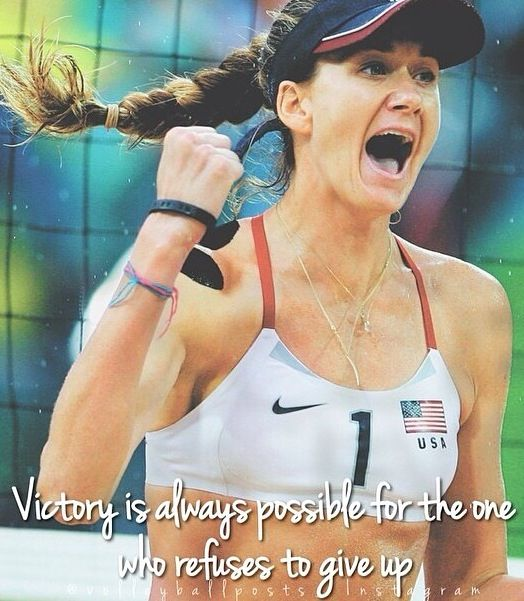 Kerri Walsh/ beach volleyball/ volleyball quote/ inspiration