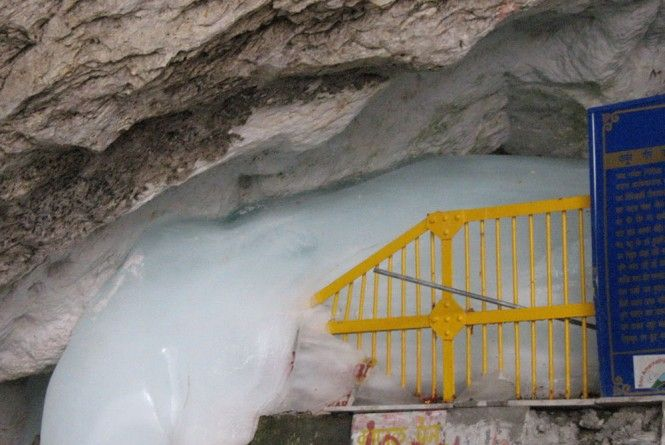 Ice Lingam at Amarnath Cave, Jammu and Kashmir