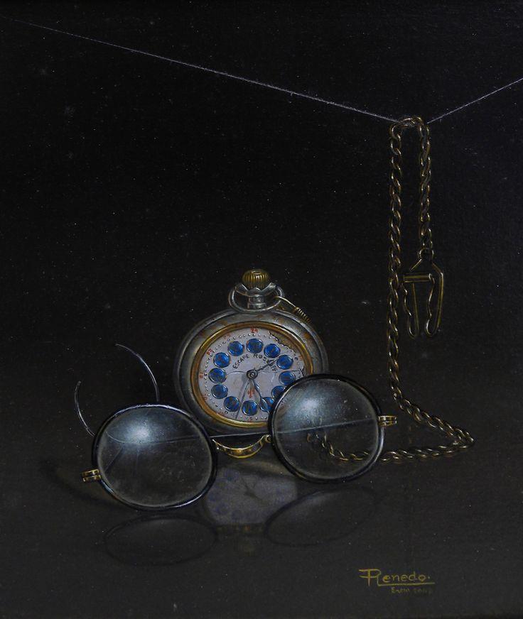Reloj de bolsillo #art #painting Oleo sobre Lienzo http://ricardorenedo.gallery/