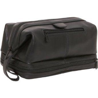 AmeriLeather Leather Toiletry Bag (Black) Amerileather. $51.83