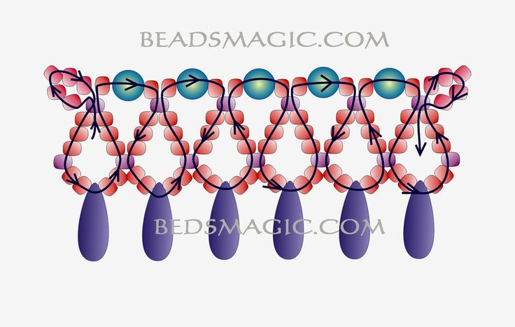 Free pattern for beaded necklace Snow White | Beads Magic