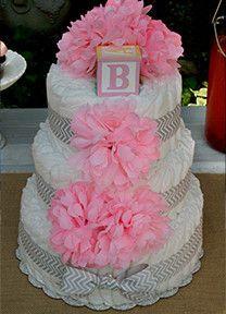 Diaper Cakes-Bella Belli Baby-Baby Shower Diaper Cake