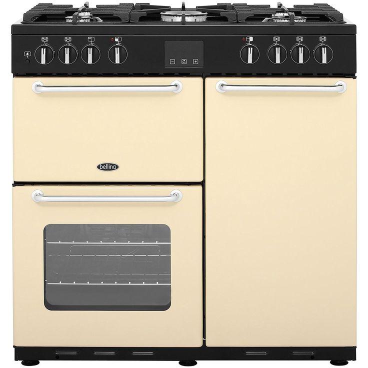 SANDRINGHAM90DFT_CR | Belling range cooker | cream | ao.com