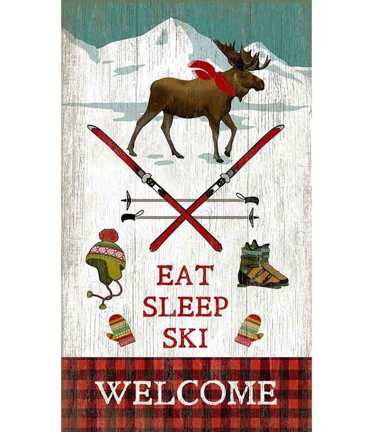 Eat Sleep Ski Custom Sign - Custom Vintage Signs for Cabin or Lodge