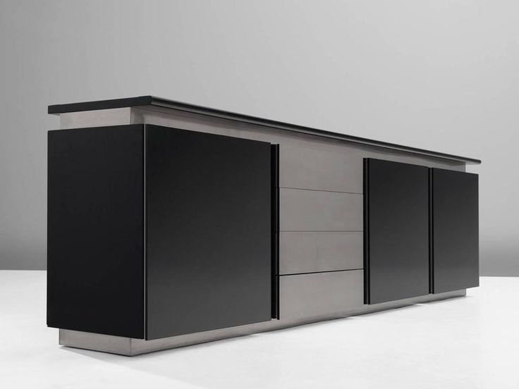 Schön Ludovico Acerbis For Acerbis Sideboard In Stained Oak And Aluminium