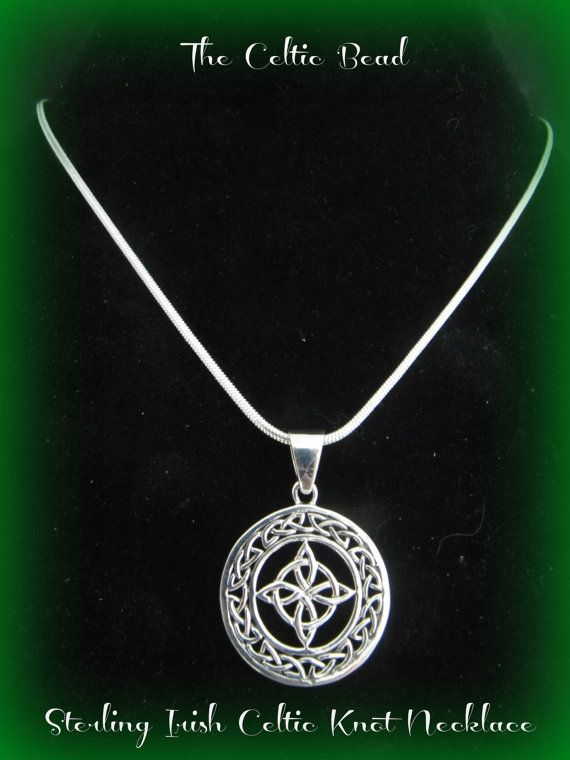 Beautiful Sterling Silver Celtic Irish Knot by TheCelticBead, $28.00