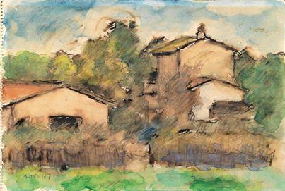 Ardengo Soffici - Paese, c. 1962