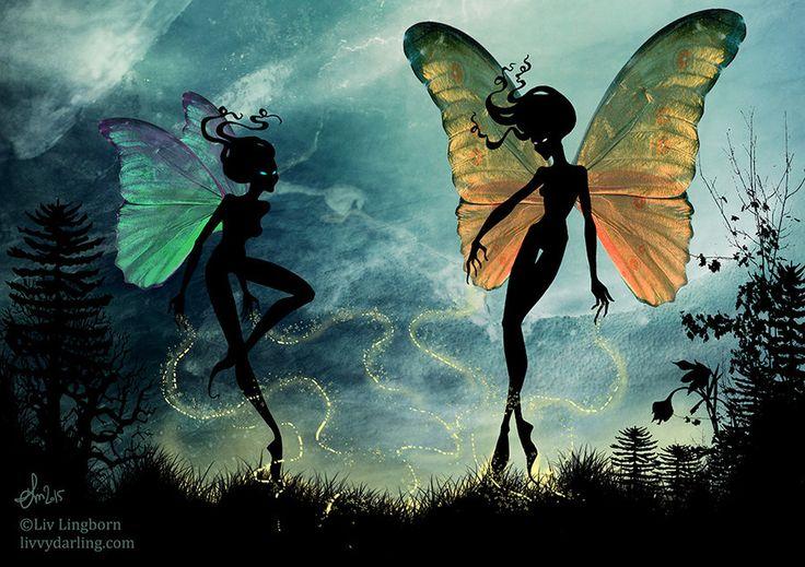 Night Fairies II by livvydarling.deviantart.com on @DeviantArt