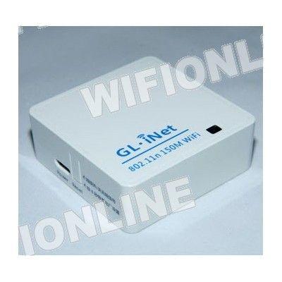 GL-INET 6480A 64Mb Micro USB Router Blanco, Modem 3G Router con una app para el movil incluida para gestionar tus documentos. Crea tu propia nube en este pequeño dispositivo.