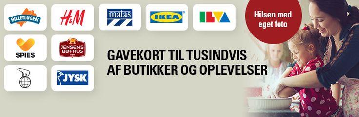 Gavekort til  H&M Matas IKEA Inspiration Magasin Mv.