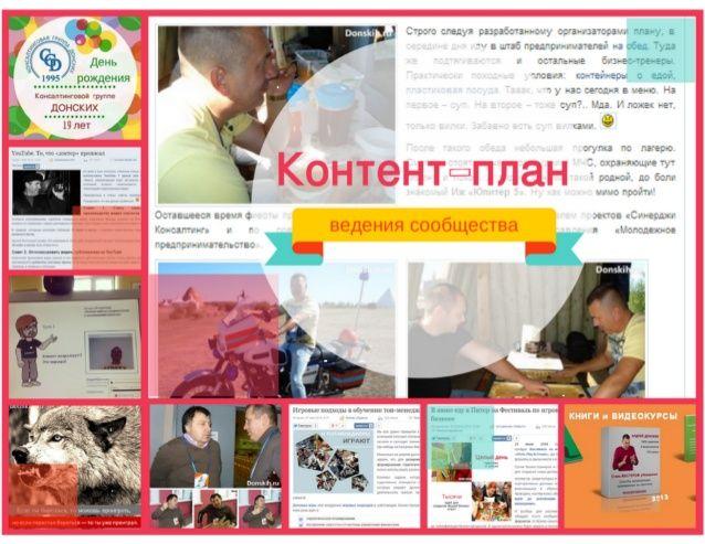Контент-план продвижения сообщества by Андрей Донских via slideshare