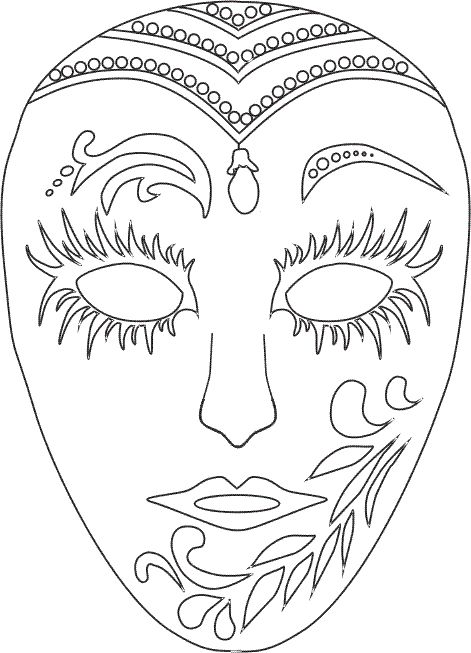 venetian_masks_3 Adult coloring pages