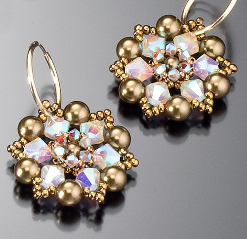 Crystal Lace Earrings Kit. I wonder what other color combinations are available ...