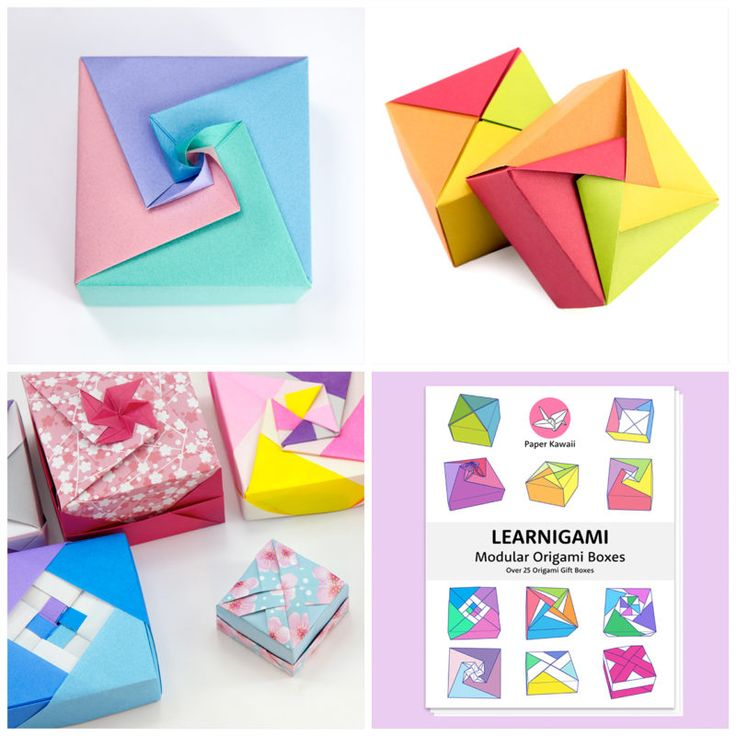 Easy Origami Candy Box Instructions (With images) Cute