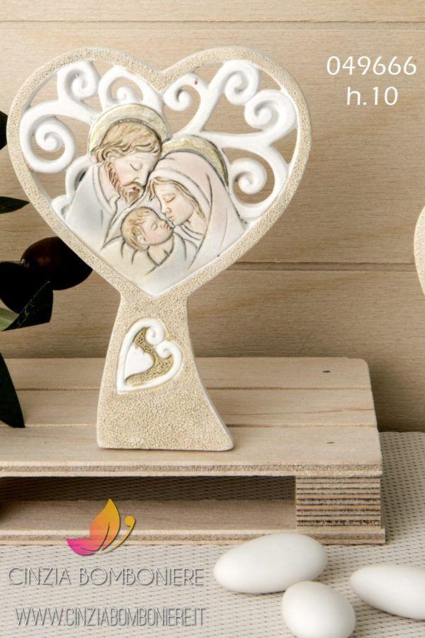 Bomboniere Religiose Matrimonio.Icona Sacra Famiglia Cuore Cuoricini Cb049666 Sacra Famiglia