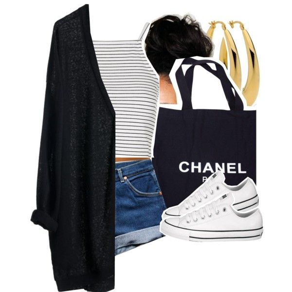 Untitled #1160 by kiaratee on Polyvore featuring polyvore fashion style Topshop Converse Chanel MTWTFSS Weekday