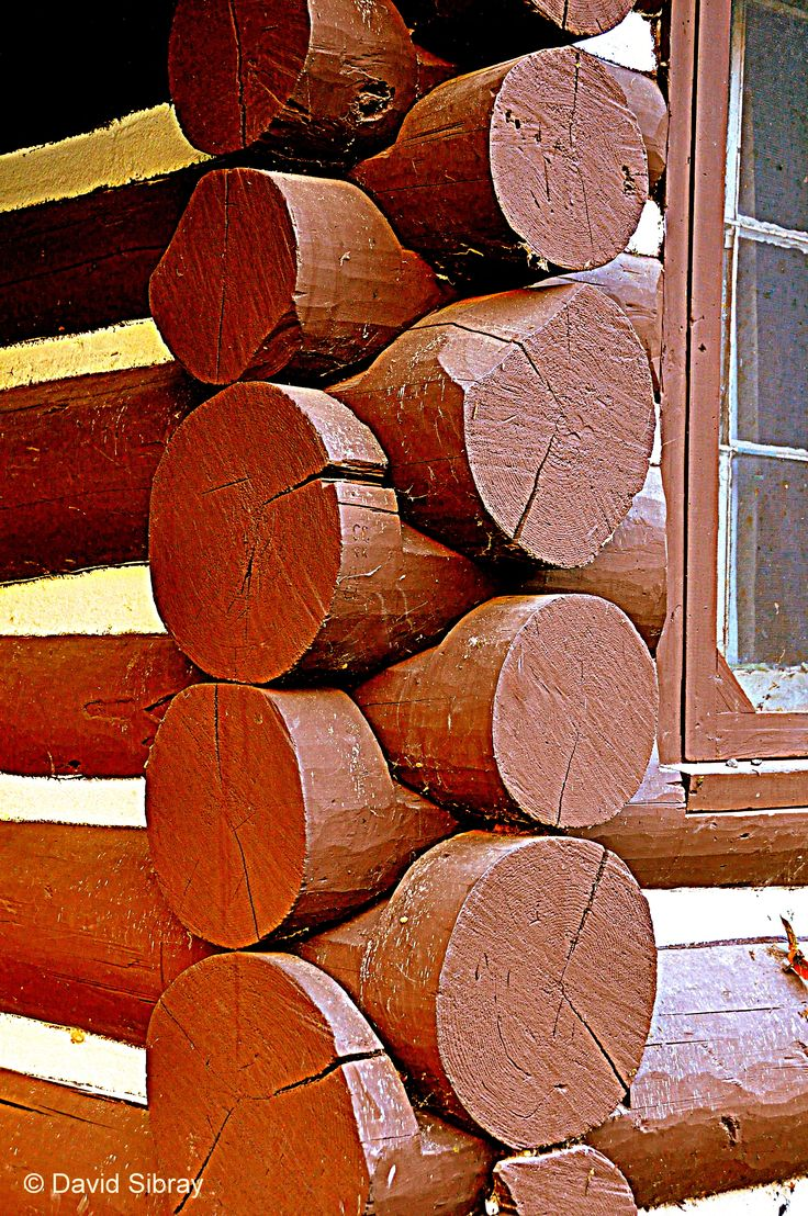 Rounded Logs Fit Together In West Virginia