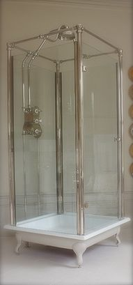 love this shower and how it is cased with a tub floor