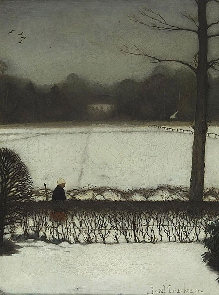 Jan Mankes, Uitzicht atelier te Eerbeek, 1917, Oil on canvas laid down on panel, 33.5x 25.5 cm | Museum Arnhem