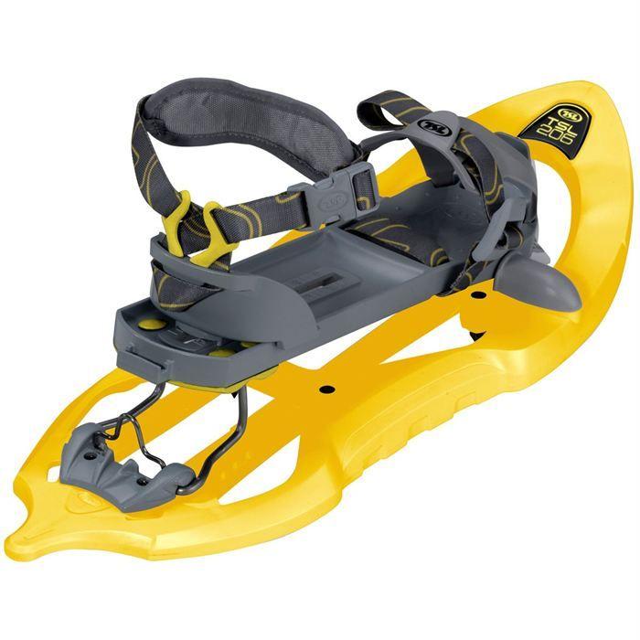 Raquettes TSL 205.Pour un utilisateur pesant de 30 à 80 kg.Pointures 35 à 45. S'utilise avec des chaussures de randonnées. Réglage très simple de la pointure.Prêt de bâtons si nécessaire. Location Raquette à neige TSL à louer à Thonon-les-Bains (74200)_placedelaloc.com