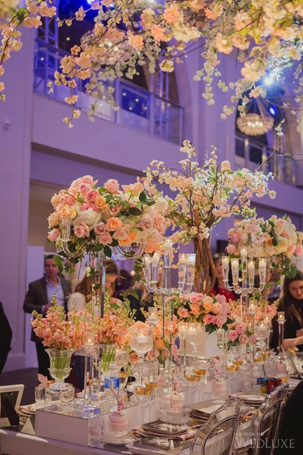 WedLuxe– The WedLuxe Wedding Show 2015: The Parisian Cherry Blossom Garden   Photography By: Elizabeth in Love Follow @WedLuxe for more wedding inspiration!