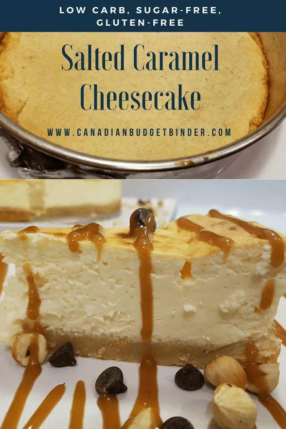 Low Carb Sugar-Free Salted Caramel Cheesecake