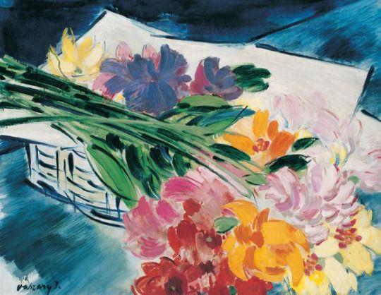 'Still life with flowers', late 1930s - János Vaszary (1867–1939)