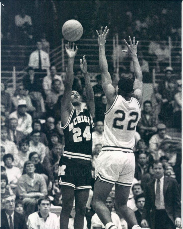 1990 Press Photo Michigan Wolverines Basketball Sean Higgins
