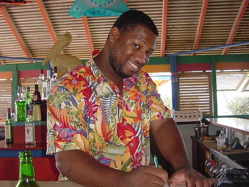 Alison at #Nisbet #Beach Bar - #Nevis, West Indies by Nevis1.com
