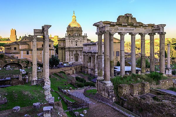 George Westermak Photograph - Roman Forum At Sunset Of A Sunny Autumn Day by George Westermak#GeorgeWestermakFineArtPhotography #ArtForHome #FineArtPrints #travel #Italy