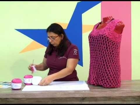 Blusa em Crochê com Cisne Glan / Cristina Amaduro. - YouTube