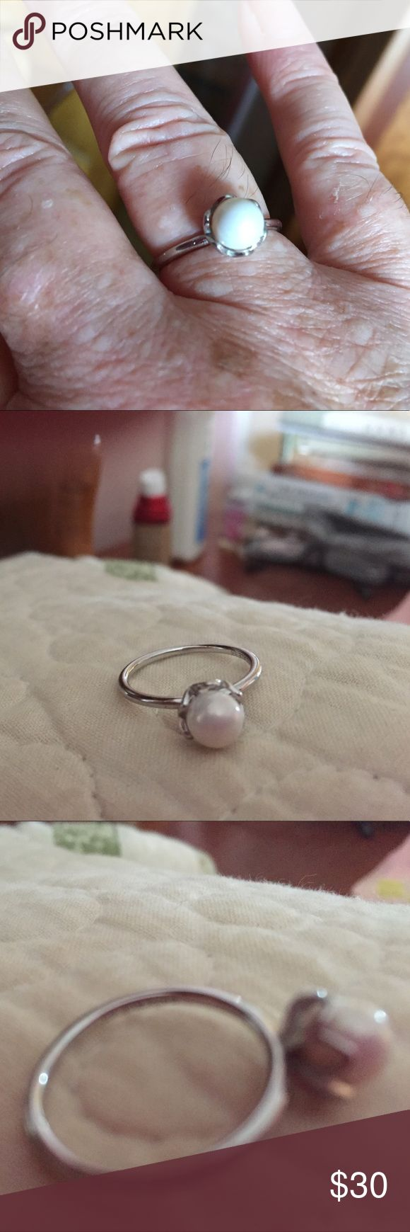 Pandora pearl ring size 58 Authentic Pandora pearl ring Pandora Other