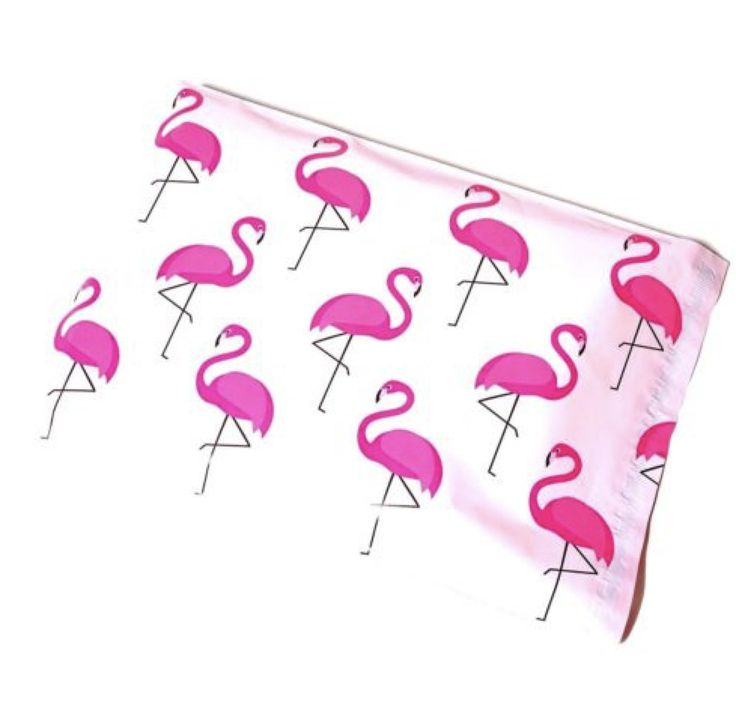 100 FLAMINGOS 10x13 Pink & Black Poly Mailers Shipping Envelopes Bags  #UnbrandedGeneric