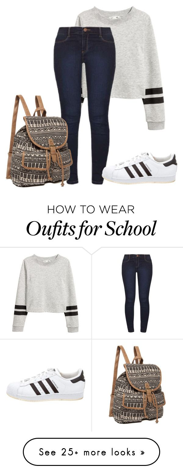 """""""simple school"""" by tabby125 on Polyvore featuring Dorothy Perkins and adidas"""